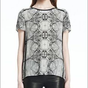 J brand printed pattern blouse short sleeve XS
